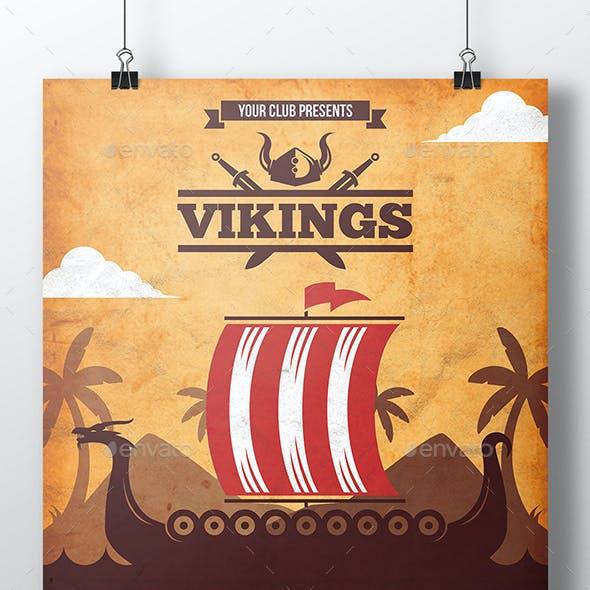 Viking Boat Flyer Template