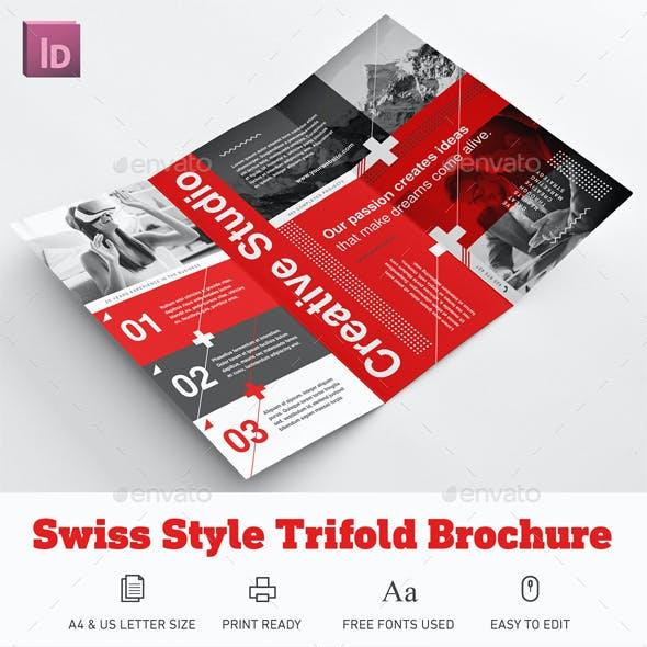 Swiss Style Trifold Brochure