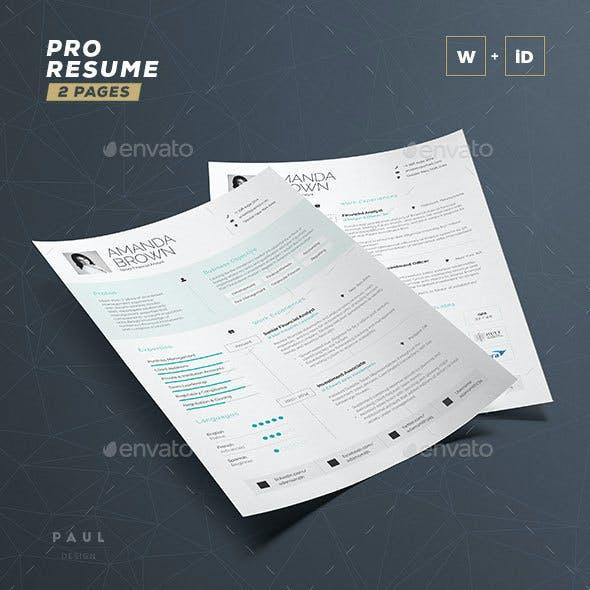 Pro Resume / Cv