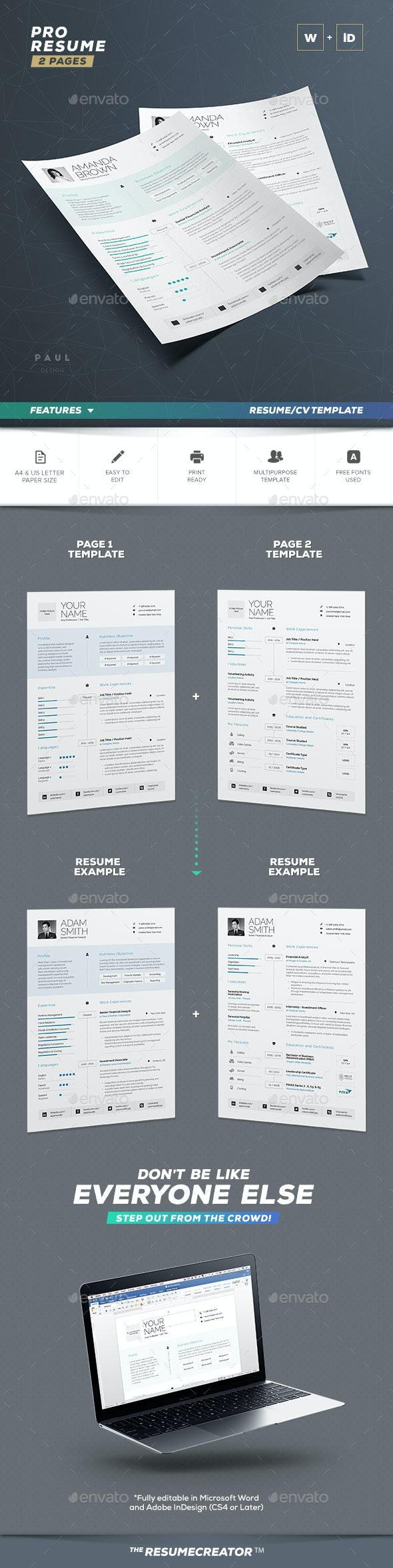 Pro Resume / Cv - Resumes Stationery