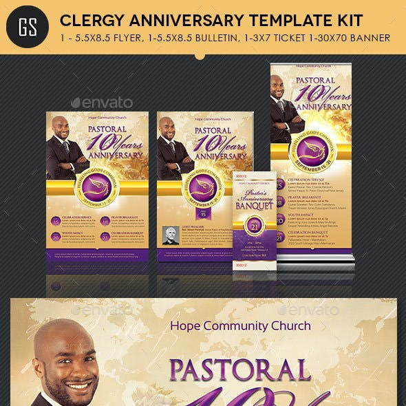 Clergy Anniversary Template Kit