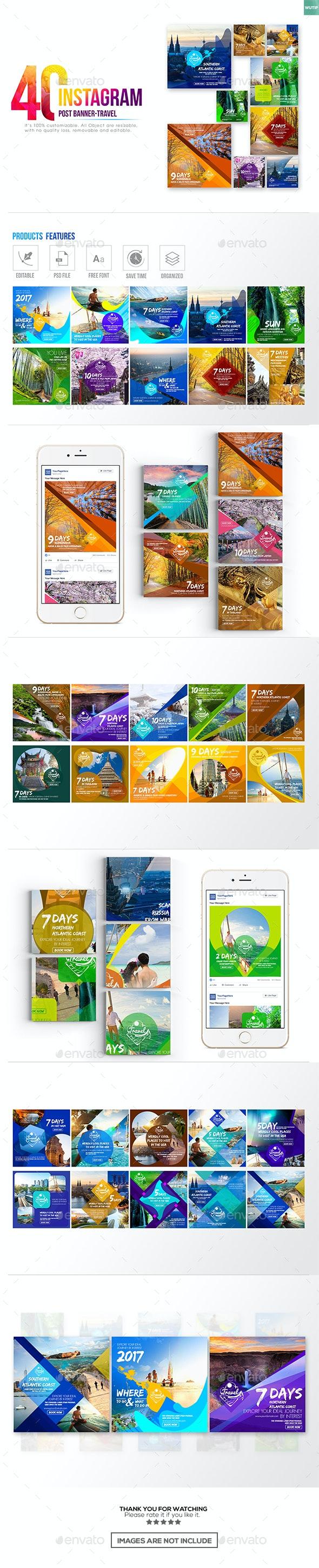 40 Instagram Post Banner-Travel - Miscellaneous Social Media