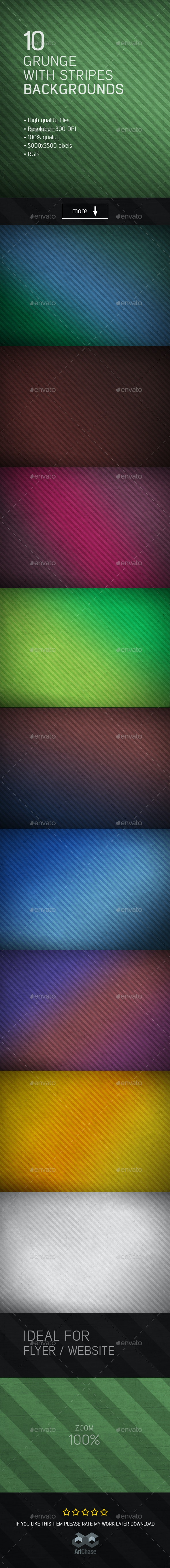 10 Grunge with Stripes Backgrounds - Urban Backgrounds
