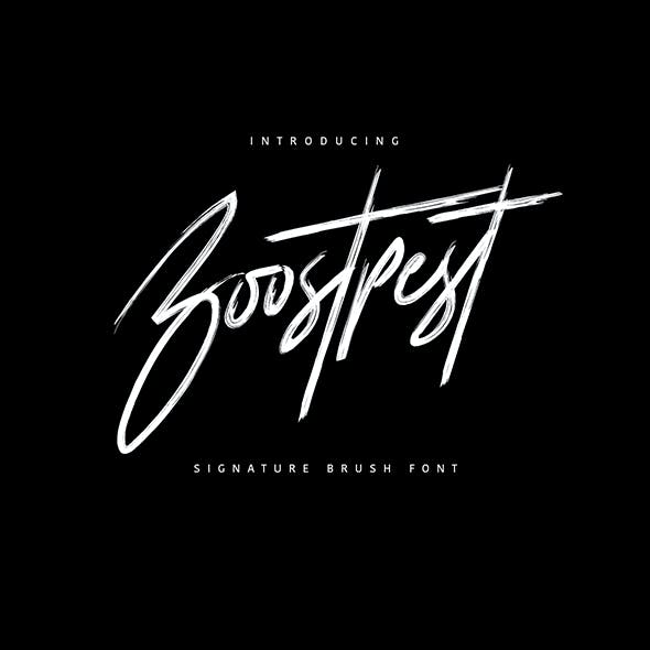 Boostpest Brush Font