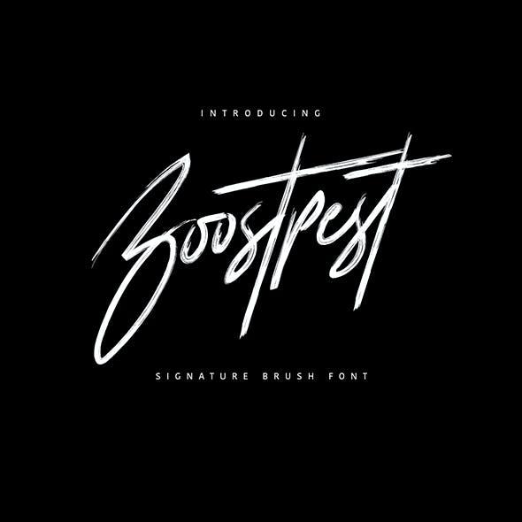 Boostpest Brush Font