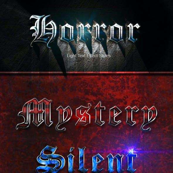 Light Text Effect Styles - Horror