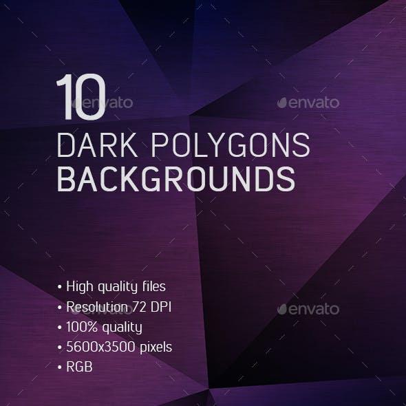 10 Dark Polygons Backgrounds