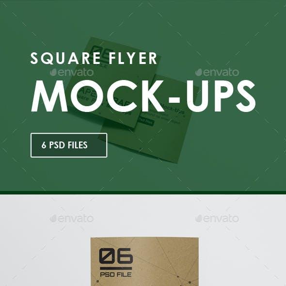 Square Flyer Mock-Ups