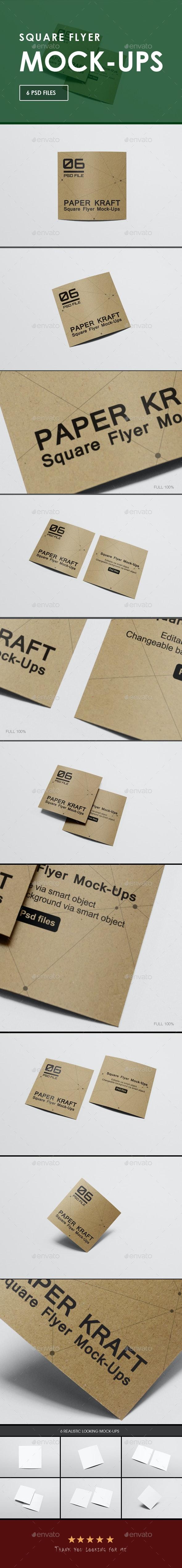 Square Flyer Mock-Ups - Flyers Print