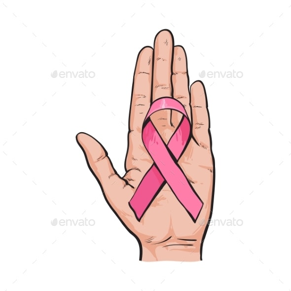 Pink Ribbon Breast Cancer Awareness Symbol - Health/Medicine Conceptual