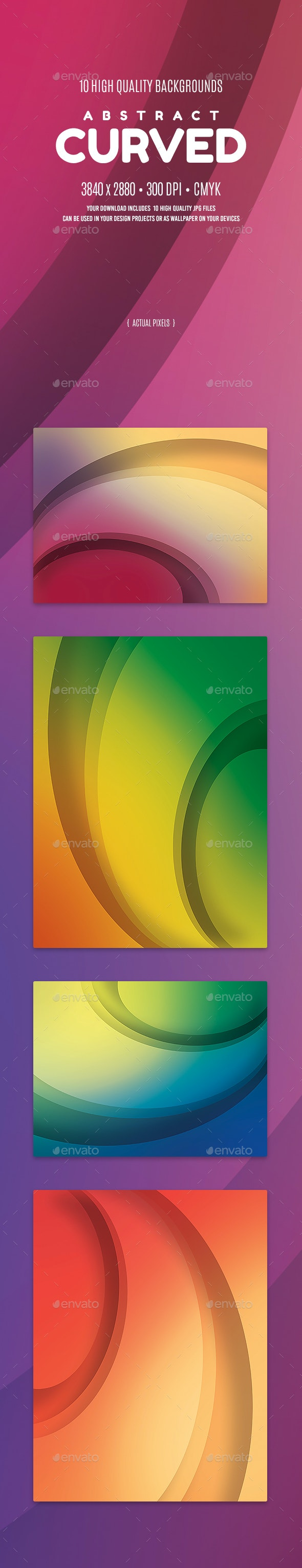 Abstract Curved Backgrounds - Abstract Backgrounds
