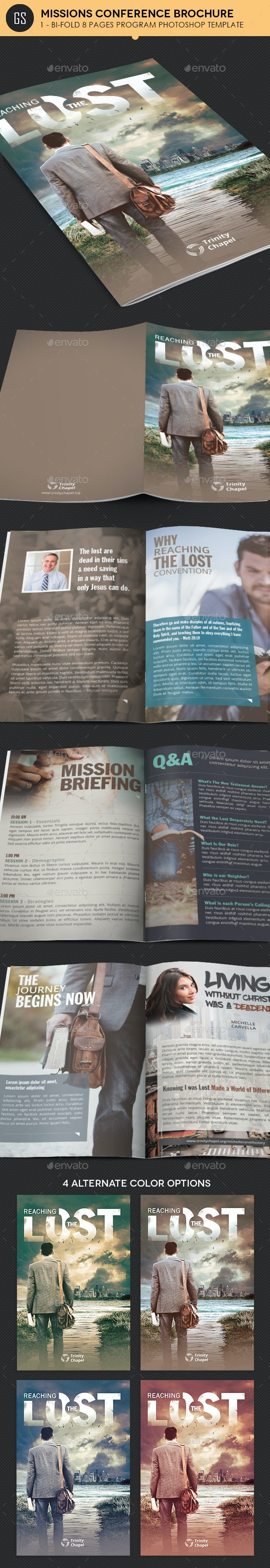 Missions Conference Brochure Template - Informational Brochures