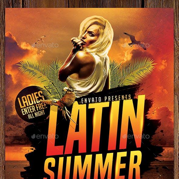 Latin Summer Nights Flyer Template PSD