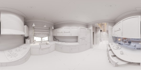 3d Render of the Kitchen Interior Design - Miscellaneous 3D Renders
