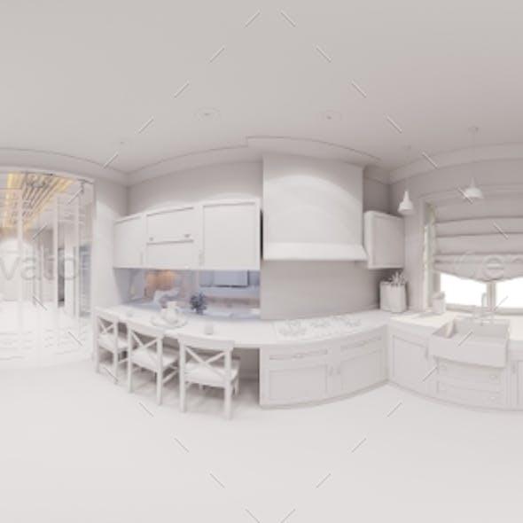 3d Render of the Kitchen Interior Design
