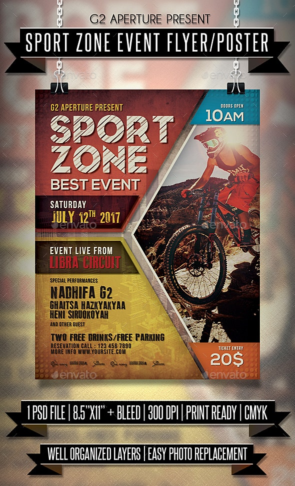 Sport Zone Event Flyer / Poster - Events Flyers