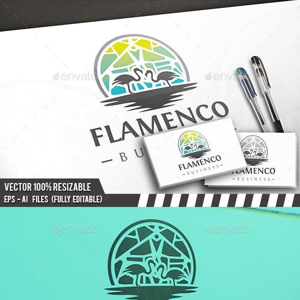 Creative Flamingos Logo