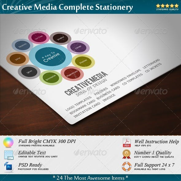 Creative Media Complete Stationery