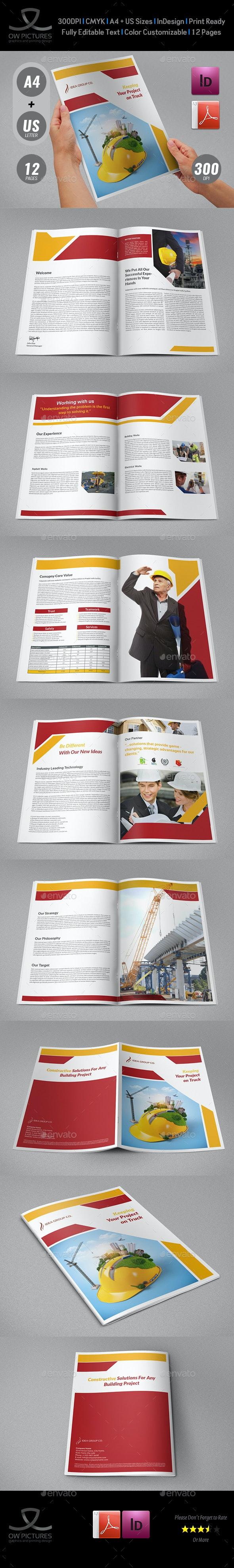 Construction Industry Brochure Template Vol.2 - Corporate Brochures