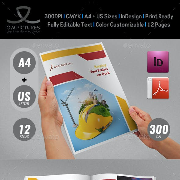 Construction Industry Brochure Template Vol.2