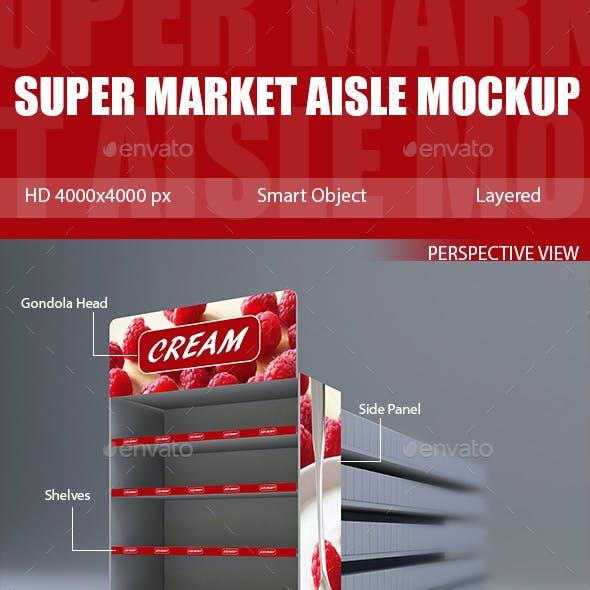 Super Market Aisle Mockup