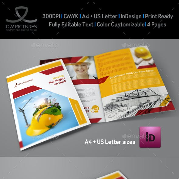 Construction Company Brochure Bi-Fold Vol.2