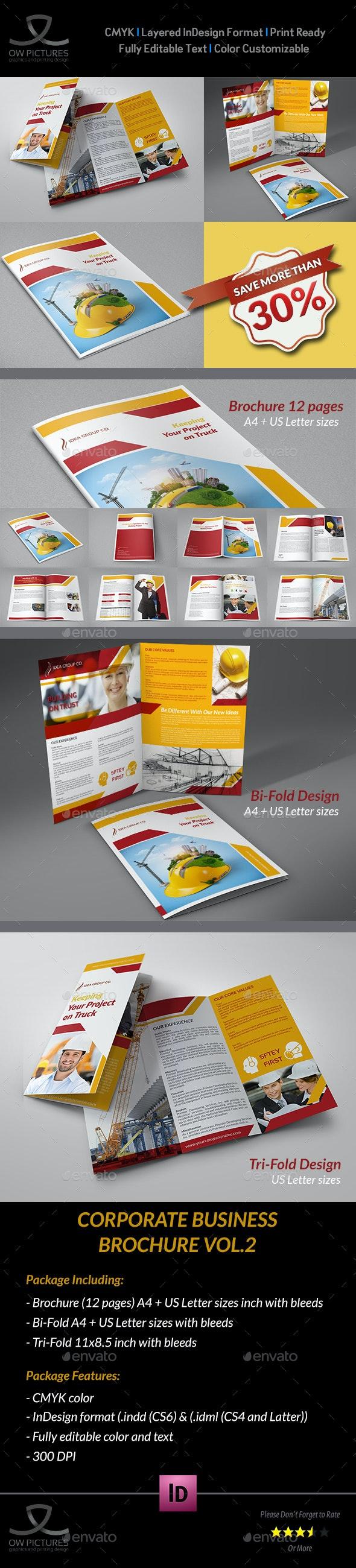 Construction Company Brochure Bundle Vol.2 - Corporate Brochures