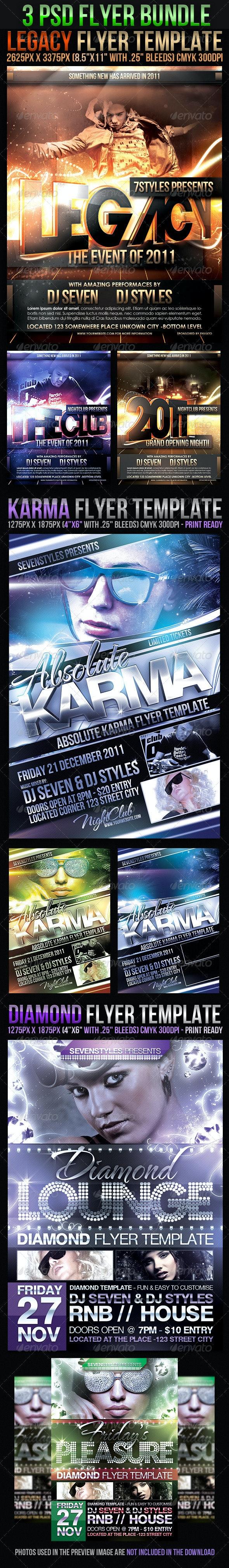Flyer Bundle - Clubs & Parties Events