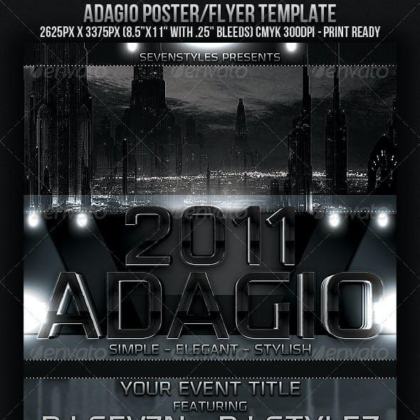 Adagio Poster/Flyer Template