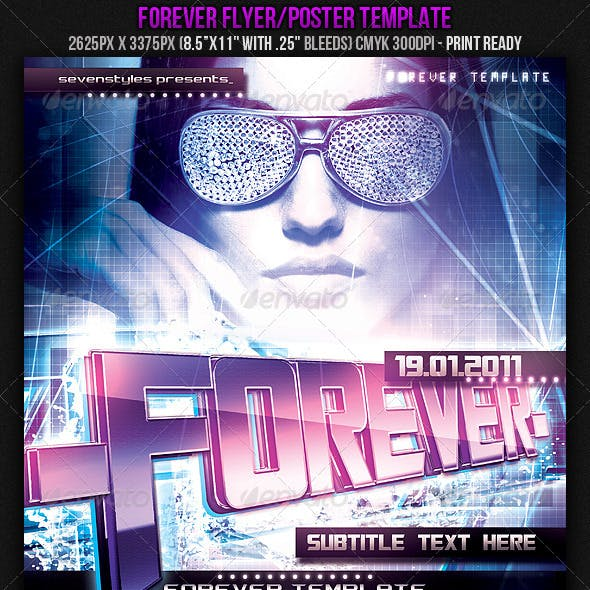 Forever Poster/Flyer Template.