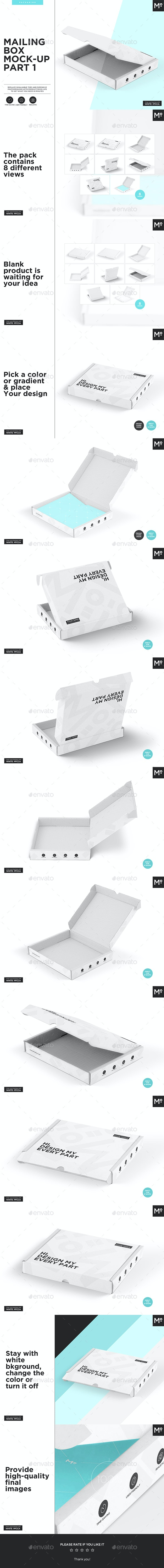 Mailing Box Mock-up Part 1 - Miscellaneous Packaging