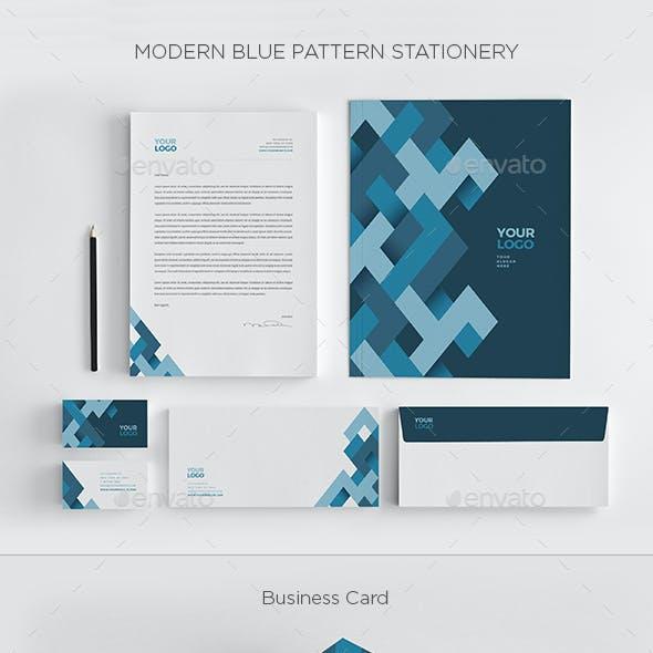 Modern Blue Pattern Stationery