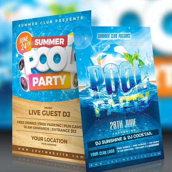 Pool Party Flyer Pack