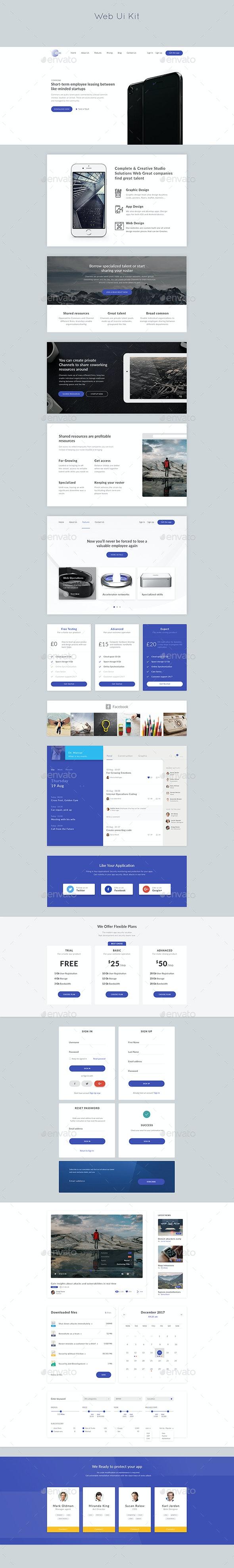 Web Ui Kit - User Interfaces Web Elements
