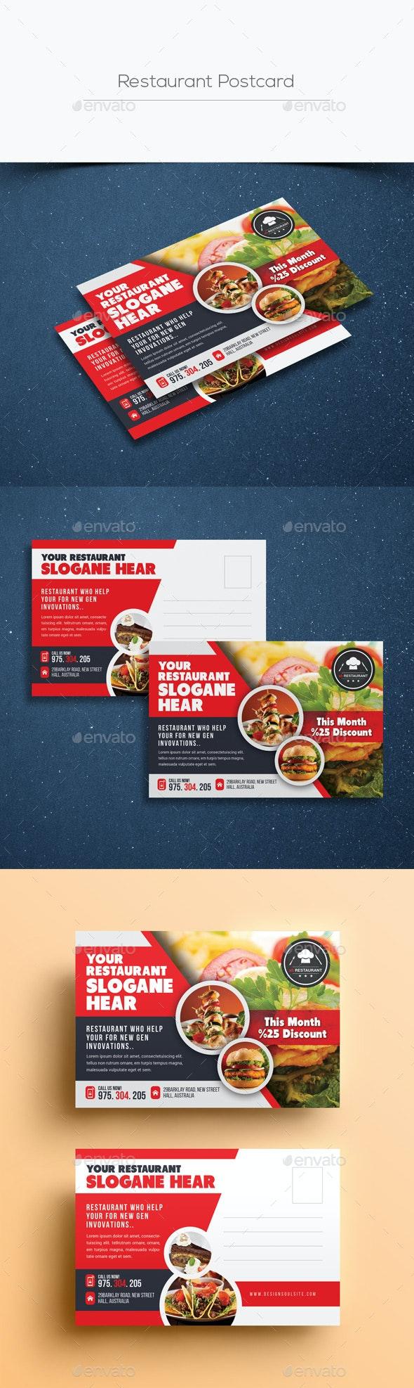 Restaurant Postcard Templates - Cards & Invites Print Templates