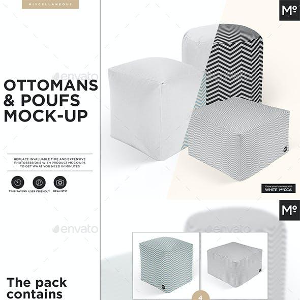 Ottomans & Poufs Mock-up