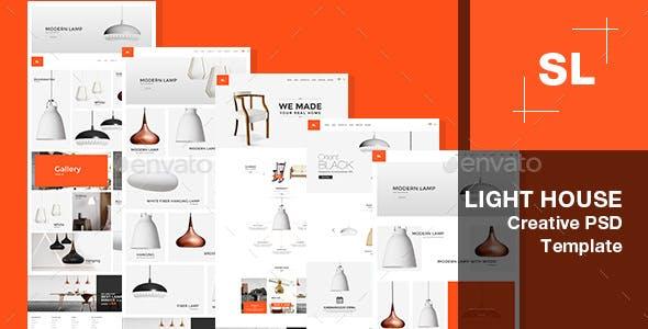 Surprising Light House Light Store Interior Lighting Decoration Psd Template Wiring Digital Resources Jonipongeslowmaporg