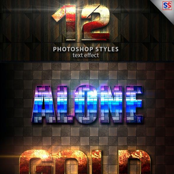 12 Light Photoshop text Effect vol 17