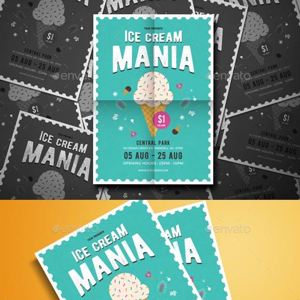 Ice Cream Mania Flyer