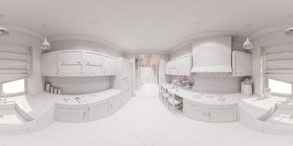 3d Render of the Kitchen Interior Design - Architecture 3D Renders