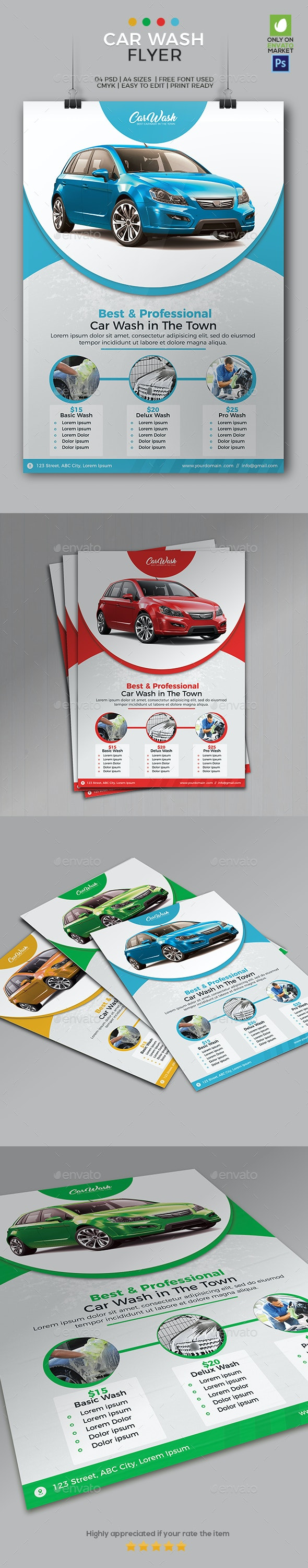 Car Wash Flyer Template 01 - Commerce Flyers