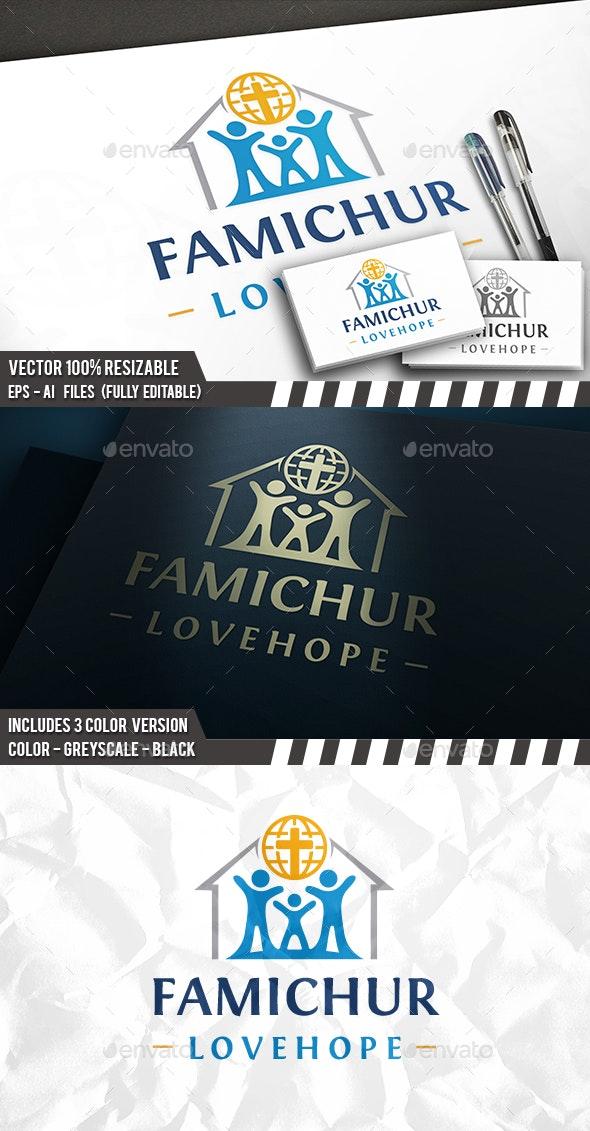Hope House Logo - Buildings Logo Templates