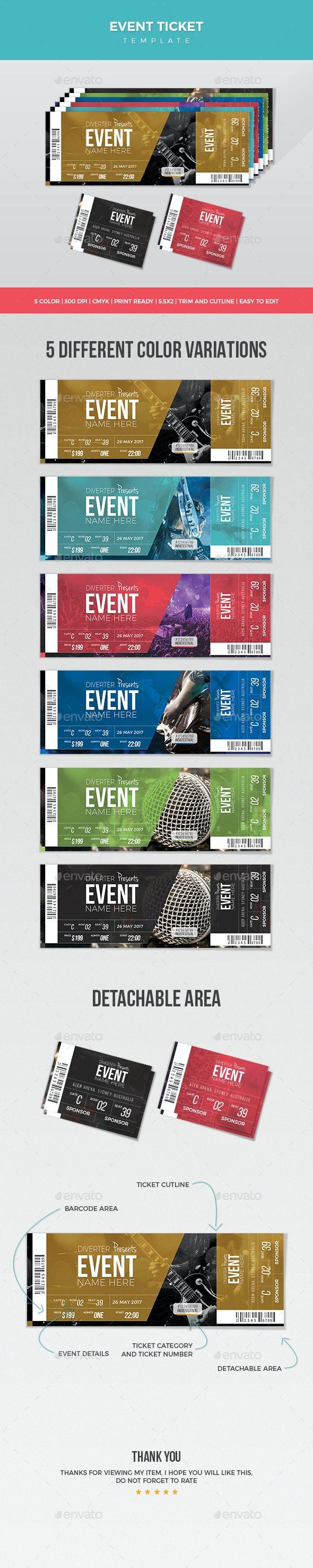 Event Ticket - Miscellaneous Print Templates