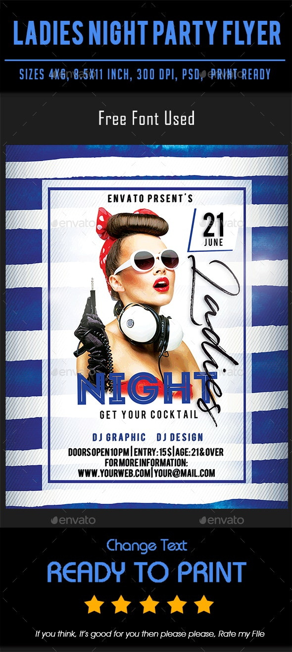 Ladies Night Party Flyer - Events Flyers
