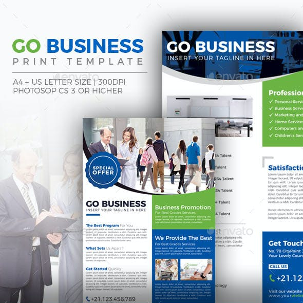 Go Business - Double Sided Flyer