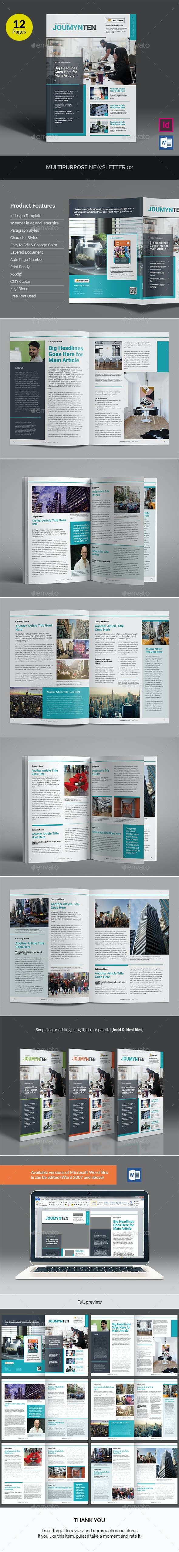 Multipurpose Newsletter v02 - Newsletters Print Templates
