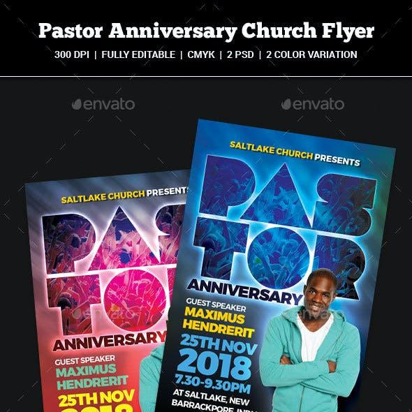 Pastor Anniversary Church Flyer