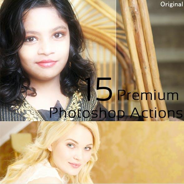 15 Premium Photoshop Actions