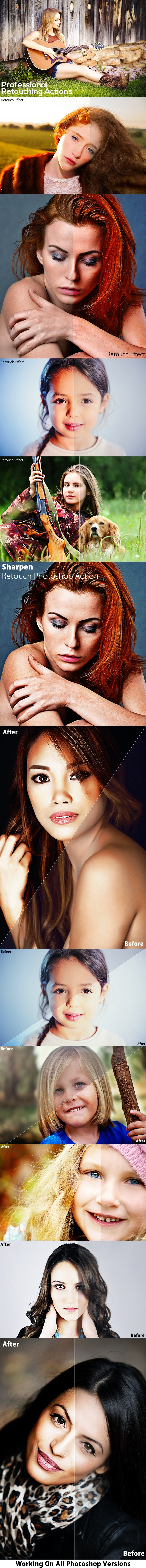 Professional Retouching Actions Bundle - Photo Effects Actions