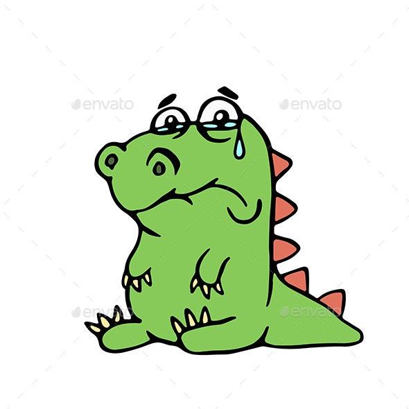 Sad Dragon - Monsters Characters